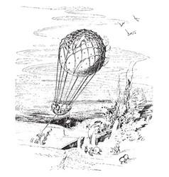 balloon fish ride vintage vector image vector image