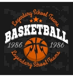 Basketball emblem for t-shirts posters banners vector