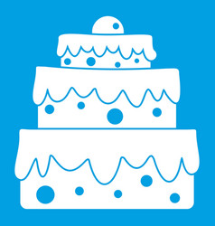 Big cake icon white vector