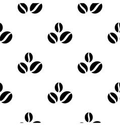 Black coffee bean seamless background vector