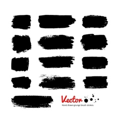 Black grunge banners vector image vector image