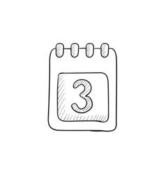 Calendar sketch icon vector