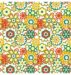 Cartoon floral seamless pattern vector image vector image
