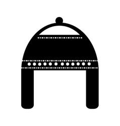 Christmas hat decorative icon vector