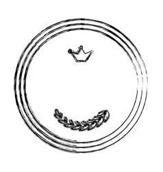 Crown emblem symbol vector