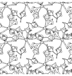 Eucalyptus flower and buds pattern vector