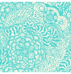 Floral doodle seamless wallpaper pattern vector