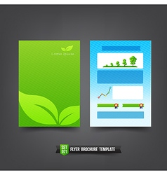 Flyer brochure background templated 021 ecology vector