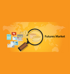 futures market trading stock exchange concept vector image vector image
