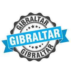 Gibraltar round ribbon seal vector
