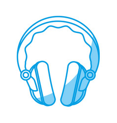 Headphone gadget icon vector