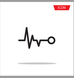heart beat icon on white background vector image vector image