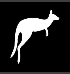 kangaroo icon vector image vector image