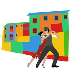 la boca and tango vector image