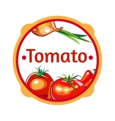 Label for a product ketchup sauce vector image