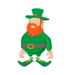 Leprechaun cartoon icon vector image vector image