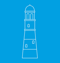 Lighthouse icon outline vector