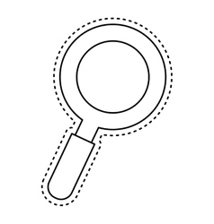 magnifying glass lupe vector image vector image