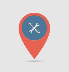 Map pin service vector