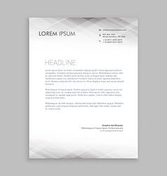 Minimal white letterhead design vector