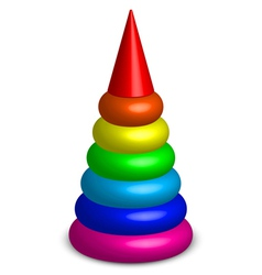 plastic toy pyramid vector image