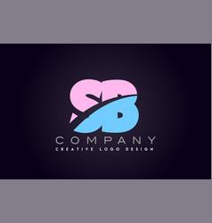 Sb alphabet letter join joined letter logo design vector