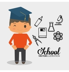 School boy equipment laboratory chemical vector
