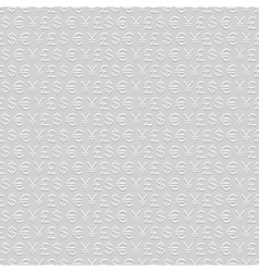 seamless pattern of currency signs vector image