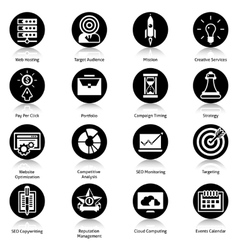 Seo icons black vector