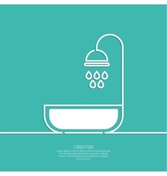 Shower handle with water drops vector