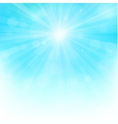 sunny background with bokeh lights vector image vector image