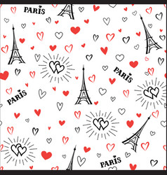 travel france seamless pattern paris city vector image