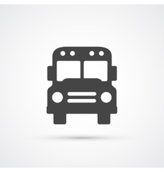 Trendy flat Bus icon vector image vector image