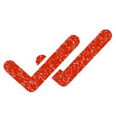 Validation grunge icon vector