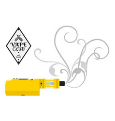 vaporizer cigarette electronic vape device shop vector image vector image
