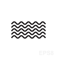 Wave black and white icon vector