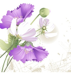 Wild flowers in color vector image