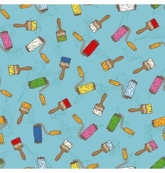 Seamless Pattern with Multicolored Paint vector image