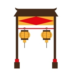 Portal culture japanese icon vector