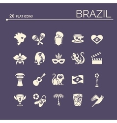 Flat icons brazil 6 vector