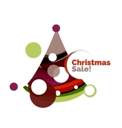 Abstract christmas sale banner design with blank vector