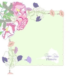 Background with bindweed and flowers-03 vector image