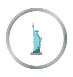 Statue of Liberty icon in cartoon style isolated vector image