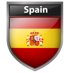 Icon design for flag of spain vector