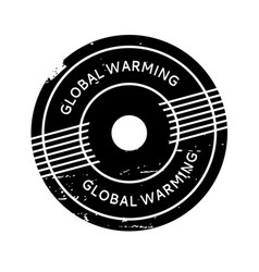 Global warming rubber stamp vector