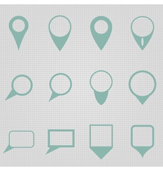 Simple Map Pointers vector image