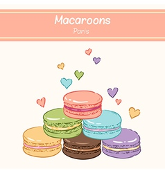 Macarons paris vector