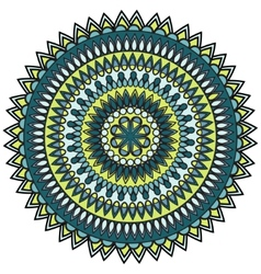 Mandala circle ornament vector