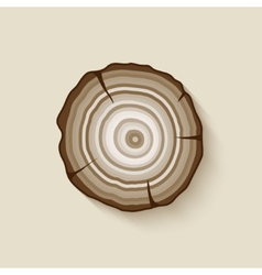 Tree rings symbol vector