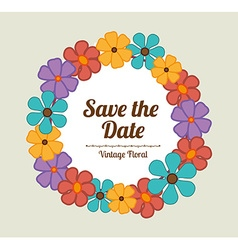 Save the date design vector